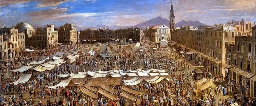 Napoli, piazza mercato era chiamata Campo del Moricino