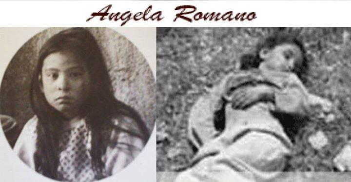 Angela Romano 9 anni fucilata  dai bersaglieri perché pianse alle esecuzioni.