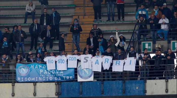 Chievo-Napoli. I tifosi Napoletani si schierano con Sarri
