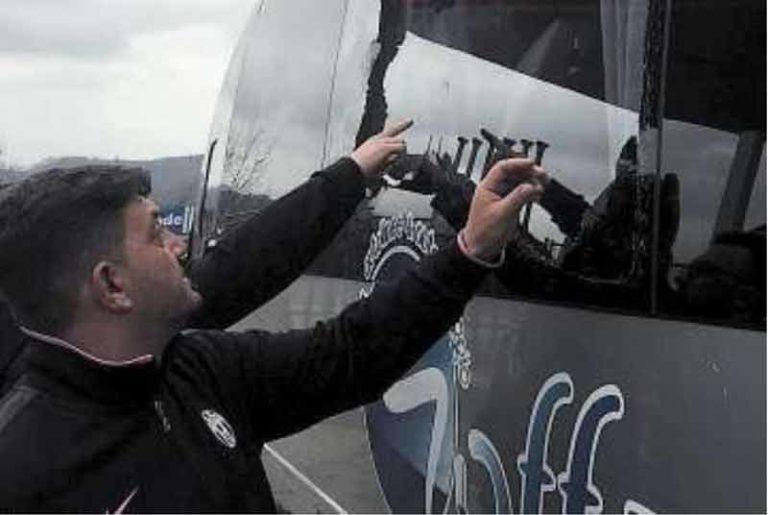 Agguato ai tifosi campani della Juventus.