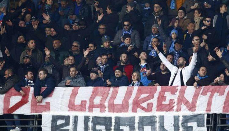 Due tifosi napoletani denunciati per aver offeso De Laurentiis