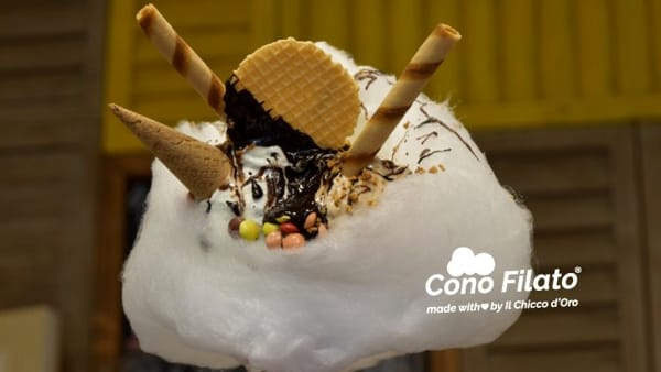 """Napoli reinventa il gelato: """"Cono filato, gelato alla pizza e pizza fritta con gelato"""""""