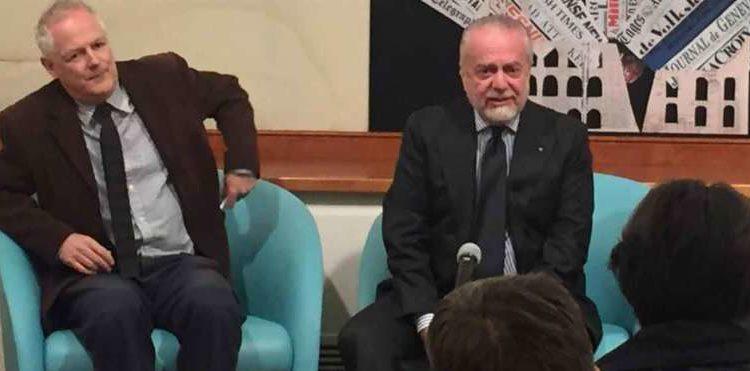 Video: le dichiarazioni di De Laurentiis alla stampa estera: Higuain ce l'aveva con Callejon