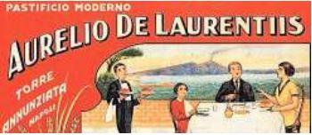 Ritrovata la prima etichetta del pastificio Aurelio De Laurentiis