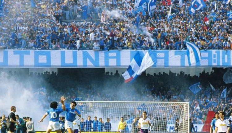 Oggi al San Paolo sfila il Napoli campione. Assenti Diego, Bianchi e Ferlaino