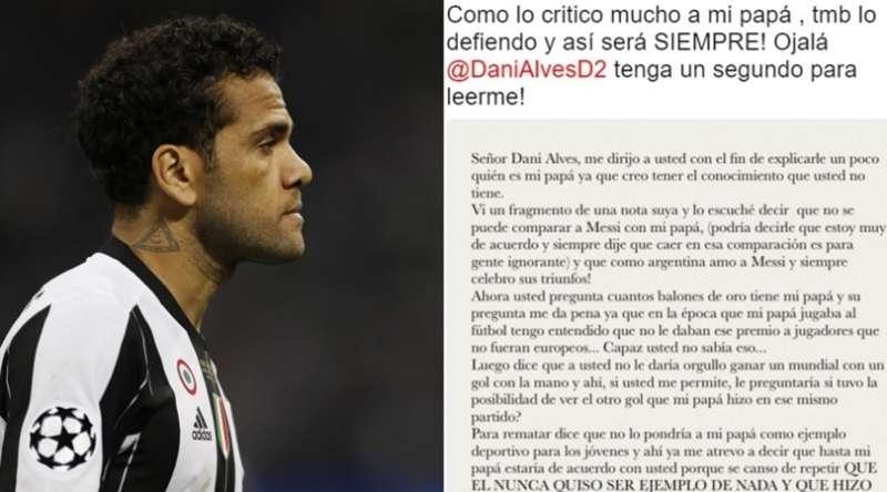 Dalma Maradona risponde a Dani Alves