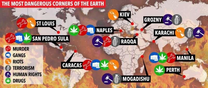 THE SUN: Napoli tra le città più pericolose del mondo. Il capoluogo campano alla stregua di Caracas e Mogadisccio