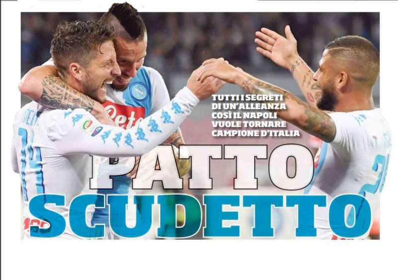 Napoli il patto scudetto. Nel  finale dello scorso campionato il gruppo azzurro si è fatto una promessa: Il patto Napoli per regalarsi il sogno più grande.