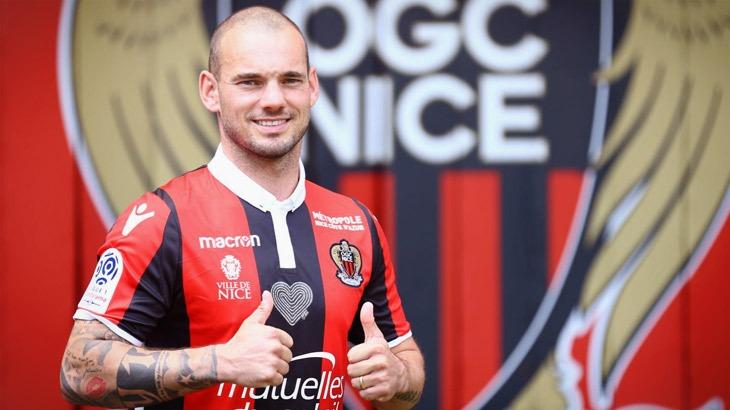 """Wesley Sneijder si presenta al Nizza: """"possiamo battere il Napoli"""". L'olandese non ha perso la verve da spaccone nonostante l'età che avanza."""