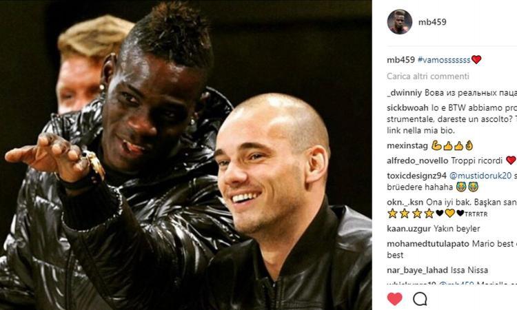 balotelli.sneijder.instagram.750x450 - Napoli-Nizza Sneijder come Balotelli probabile assenza al San Paolo. Le motivazioni del tecnico..