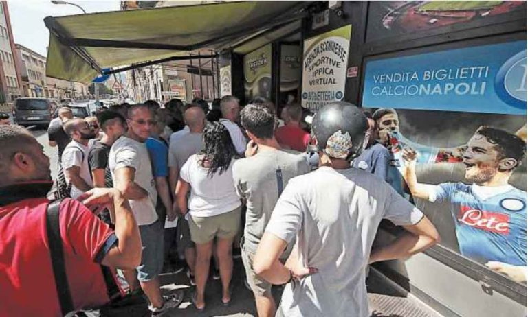 Napoli-Nizza 17mila biglietti venduti in quattro ore