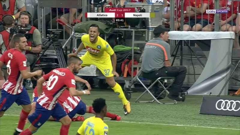 Simeone difende Godin. Audi cup, dopo Atletico Madrid-Napoli il tecnico Diego Simeone ha rilasciato alcune dichiarazioni al sito spagnolo AS