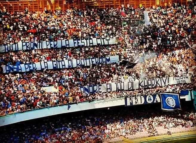 Napoli-Benevento sugli spalti vincono i sanniti. Piccola protesta in curva B