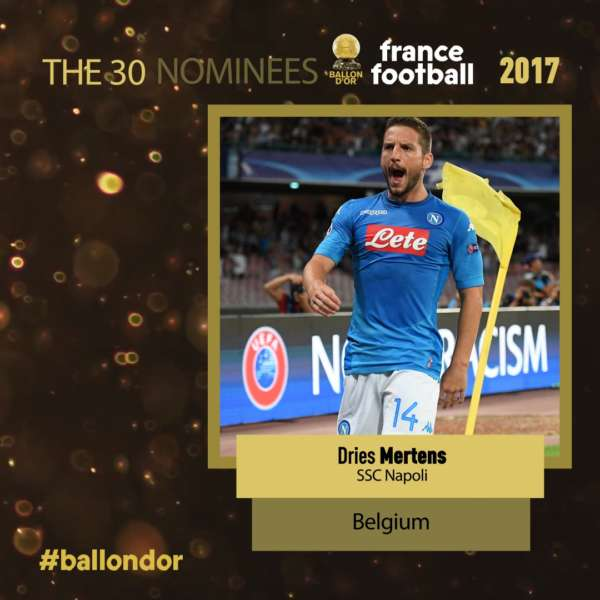 France Football Mertens candidato al pallone d'Oro. Il belga del Napoli inserito nell'elenco dei possibili vincitori. Ecco la motivazione ufficiale.