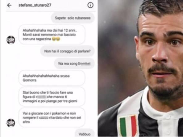 Juventus, Sturaro: litigio social con un napoletano di 12 anni: