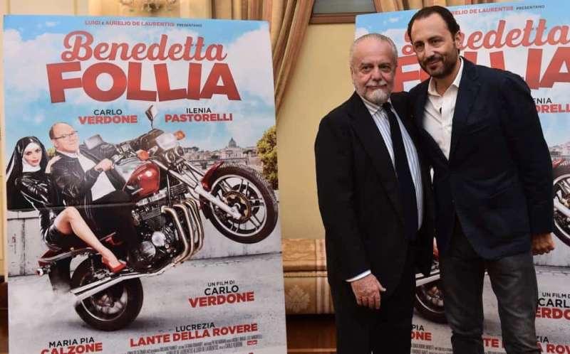 Alla presentazione del nuovo film di Carlo Verdone Benedetta Follia è intervenuto Aurelio De Laurentiis sul mercato del Napoli