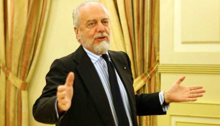 """De Laurentiis """" 10 al mercato del Napoli, mi dispiacerebbe se qualcuno pagasse la clausola di Sarri"""""""