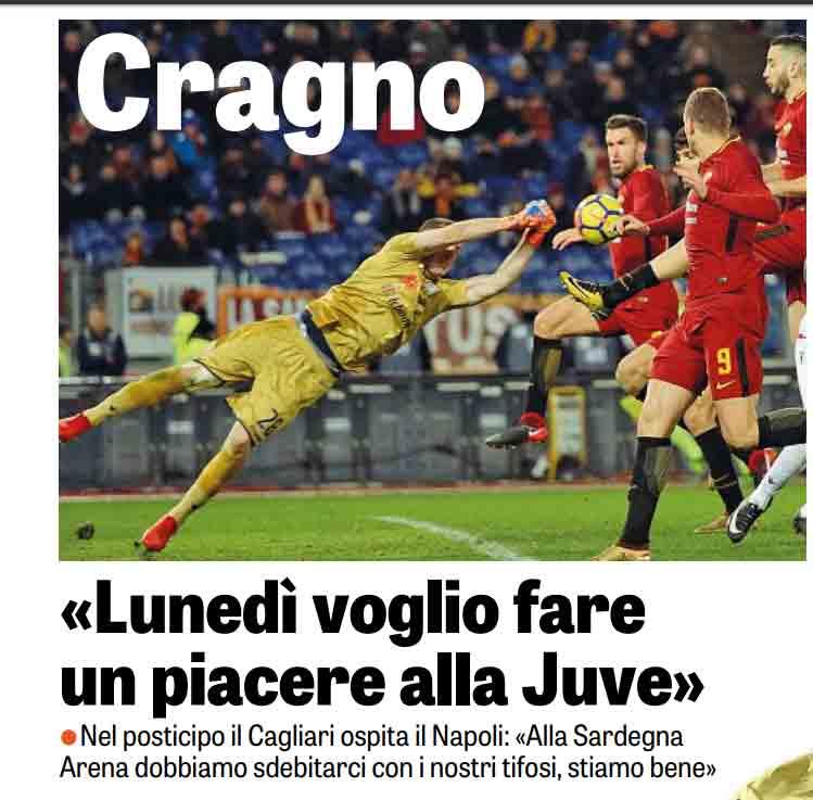 cragno alla gazzetta min - Napoli, da Cagliari brutti segnali: hanno già dimenticato cosa ha fatto la Juve