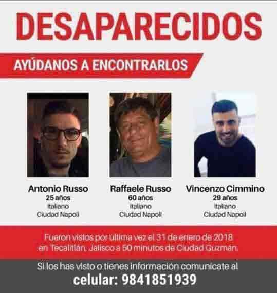 I tre italiani scomparsi in Messico a Chi l'ha visto?