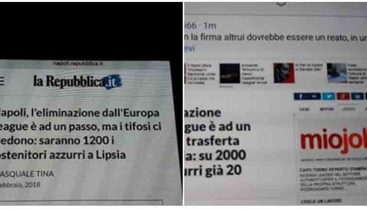L'ira di Repubblica, Juventini hanno modificato l'articolo sul Napoli. E' vergognoso!