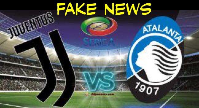Ziliani su Twitter: Juventus- Atalanta è una fake news, guardate qui!