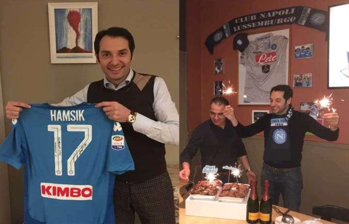 regalo hamsik min - Hamsik che regalo ai tifosi del Napoli in Lussemburgo
