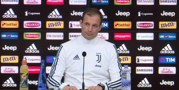 Allegri consola Buffon e poi parla del Napoli