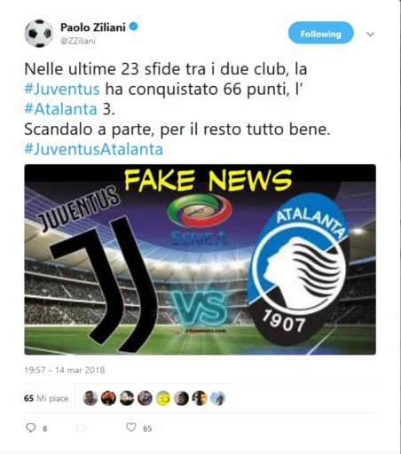 Da applausi ziliani su twitter juventus atalanta una for Ziliani twitter