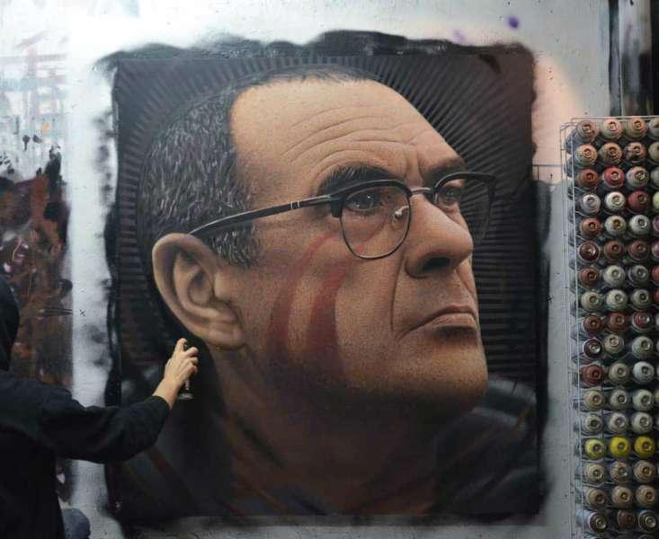 Maurizio Sarri dipinto da Jorit