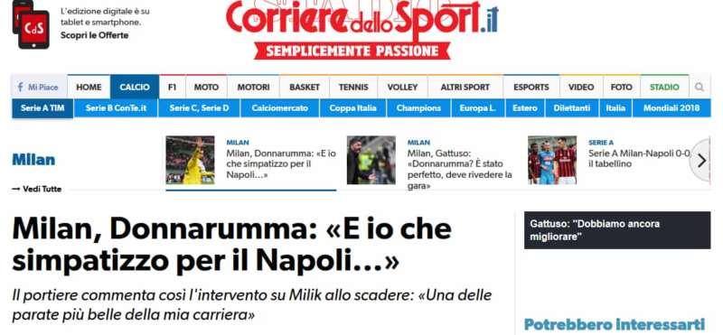 """Sta facendo il giro del web il video di Donnarumma contro i Napoletani. Il portiere del Milan para il tiro di Milik al 92', ma quello che ha fatto infuriare i Napoletani è stato il video in cui il portiere della Nazionale in dialetto chiede scusa allo zio: """"Non l'ho fatto apposta, volevo togliere la mano, ma non ci sono riuscito"""". Per poi urlare """"vafammoc""""."""