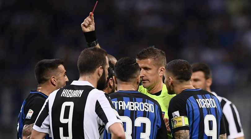 Inter-Juventus: Sconcertante l'arbitraggio di Orsato. Campionato falsato?