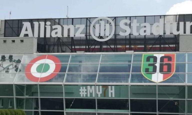 36 scudetti, chiesti punti di penalizzazione per la juve e squalifiche anche per i giocatori. la scritta 36 sul sito internet e all'ingresso dell'Allianz Stadium rappresenta pubblicità ingannevole.
