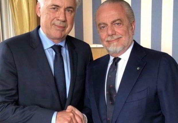 Carlo Ancelotti è il nuovo allenatore del Napoli. Lo ha annunciato il sito ufficiale della Ssc Napoli Aurelio De laurentiis su twitter ha salutato Sarri.