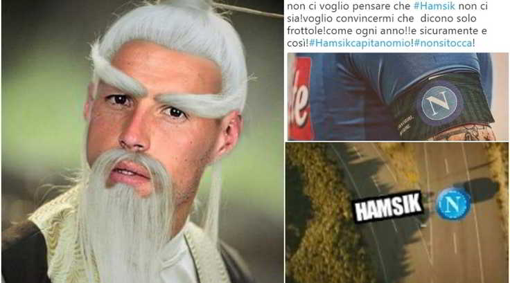 Hamsik in Cina ? i tifosi del Napoli si dividono sui social tra ironia e disperazione. La maggior parte dei tifosi partenopei mostra comunque riconoscenza al capitano, tentato da alcune offerte multimilionarie arrivate dalla Cina.