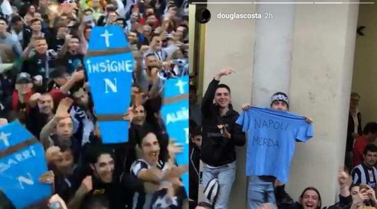 """Ecco la risposta del Napoli contro la Juve: """"Siamo indignati, vergognatevi"""". La SSC Napoli risponde con un tweet all'atteggiamento provocatorio tenuto da alcuni calciatori della Juventus sui social (non solo Douglas Costa, ma anche Pjanic."""