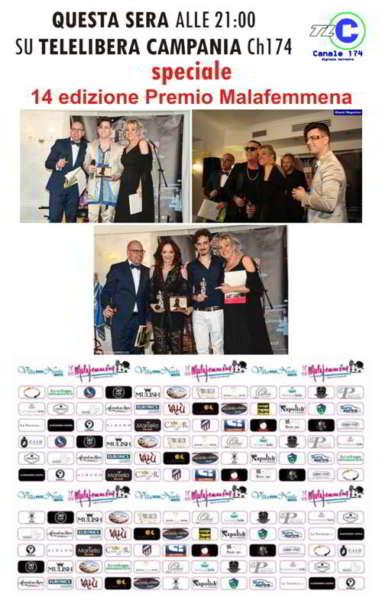 Grande successo del Premio Malafemmena, dedicato a Totò. Madrina dell'evento è stata Elena Anticoli De Curtis, nipote del grande Antonio De Curtis. Moltissimi personaggi dello sport e dello spettacolo presenti.