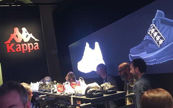Altro che Adidas. De Laurentiis allo stand Kappa di Pitti Immagine