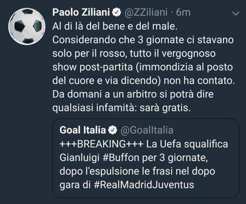 Buffon squalificato, i social si scatenano #Buffon