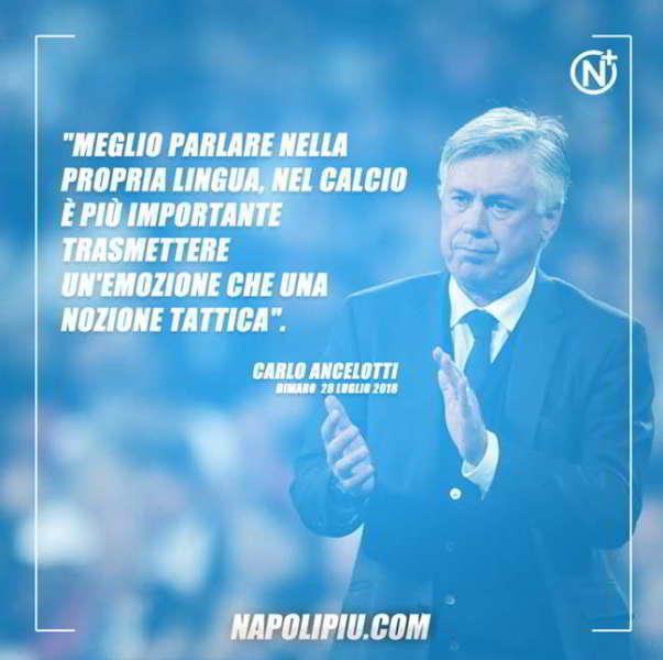 Ancelotti in conferenza interviene sul mercato: «Cavani? solo chiacchiere, ho un grande Napoli. Di sicuro saremo pronti per l'esordio in campionato».