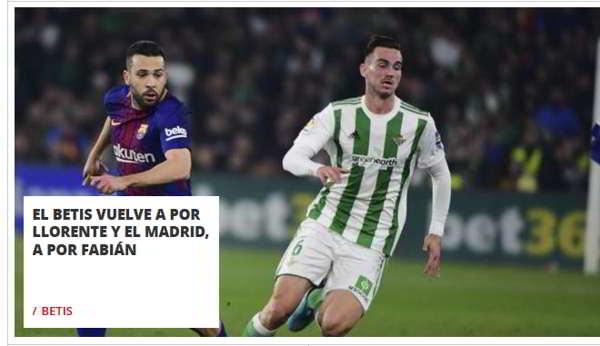Clamoroso: Il Real Madrid vuole Fabian Ruiz, ADL non ha ancora pagato la clausola. I dettagli