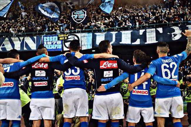 Napoli anticipo contro Lazio e Milan. Le partite su Sky e Dazn