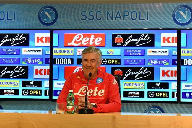 """Ancelotti: """" Puntiamo ad essere competitivi in campionato e CL. Ecco quando vedrete il vero Napoli"""""""