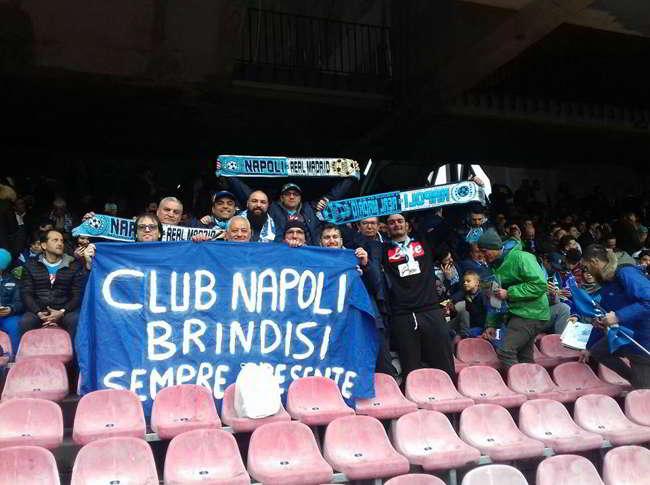 Bellissimo gesto del Napoli Club Brindisi per Napoli-Milan