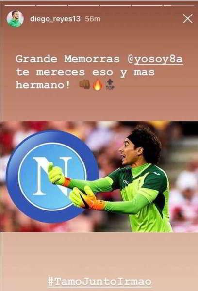 """Reyes annuncia """"Ochoa al Napoli. Grande Fratello!"""""""