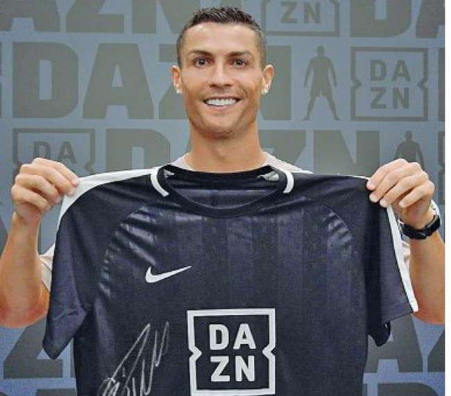 Ronaldo testimonial di Dazn. La web tv sceglie il global ambassador