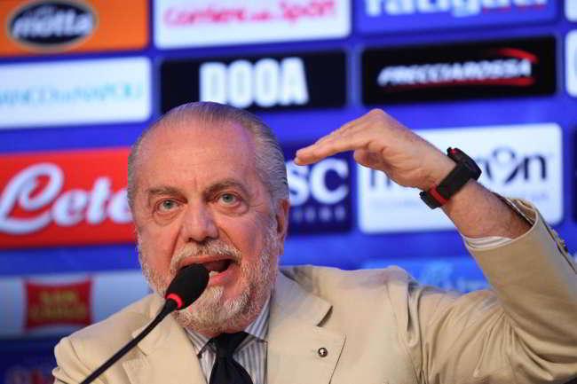 """De Laurentiis: """"ecco i prezzi dei mini abbonamenti. Io non mi arricchisco con il calcio..."""""""