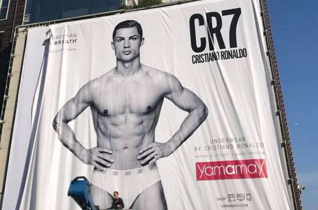 Cristiano Ronaldo testimonial Yamamay prima di Juve Napoli. Tifosi irritati