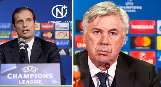"""Allegri: """"bel gioco? penso a vincere"""". La risposta di Ancelotti è da applausi"""