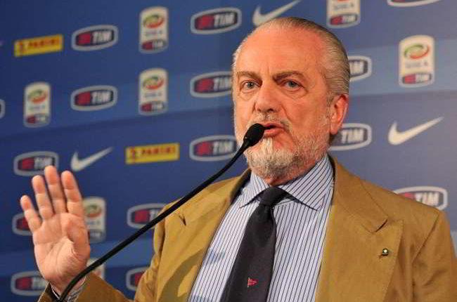"""De Laurentiis: """"prezzi alti? devo rientrare dei costi, farò un regalo ai tifosi. Su Sarri dico..."""""""
