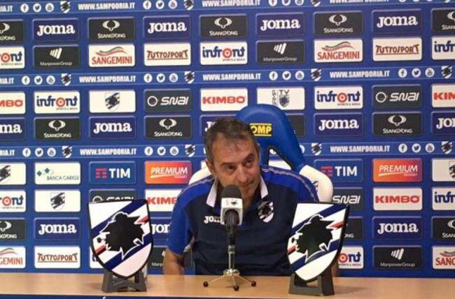 """Giampaolo avvisa il Napoli: """"Giocheremo per Genova. Faremo una grande partita"""""""